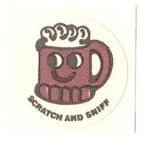 CTP Scratch and Sniff 12 MATTE ROOTBEER Sticker Original Backing RARE VINTAGE