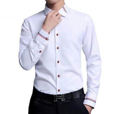 Camisas Casuales Para Hombres Camisa De Vestir De Moda Slim Fit Ropa De Hombre Ebay