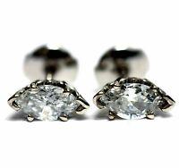 EGL 1.03ct marquise diamond SI2-I1 E New 14k white gold stud earrings estate