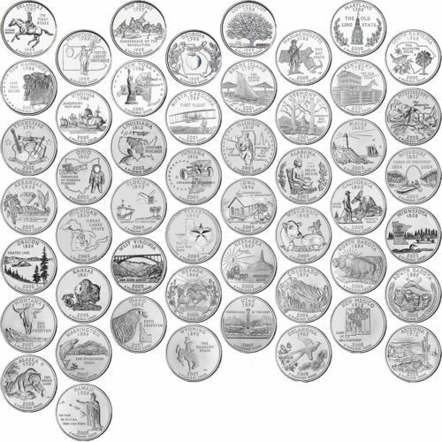 US State Quarters Complete Uncirculated Collectible Set - Complete 50 state quarter set