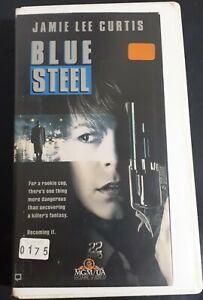 Blue-Steel-VHS-Tapes-1989-Ex-Rental-1st-Clamshell-Release-Killer-Cop-THRILLER