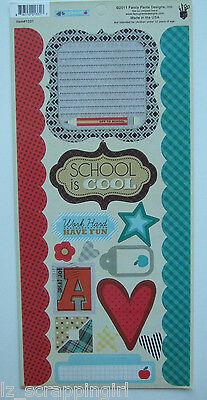 OFF TO SCHOOL / SCHOOL IS COOL Fancy Pants Designs Cardstock Scrapbook Stickers