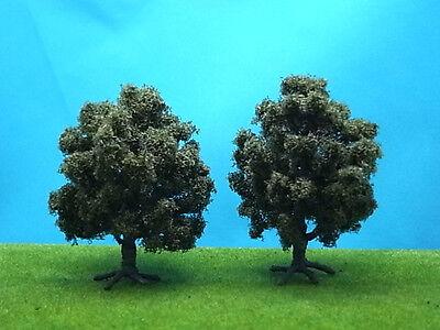 VT008-2x Scale Train Layout Oak Model Tree HO N
