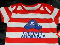 Captain Adorable Pirate Infant Clothes Newborn Baby One Piece Boy 0 3 6 9 Mo