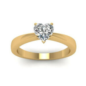 Diamant-Ring-Solitaer-0-50-Ct-Herzschliff-585-14K-Gelbgold-Ring-GIA-Zertifikat