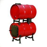 Double Barrel Stove Adapter Kit Wood Burning Cast Iron Parts Garage Cabin Barn