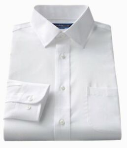 Men-039-s-Croft-amp-Barrow-Classic-Fit-Essential-Point-Collar-Dress-Shirt-White
