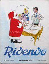 Ridendo n°401  - 1972 - Comptes de Noël - Lep - Revue gaie pour le Médecin