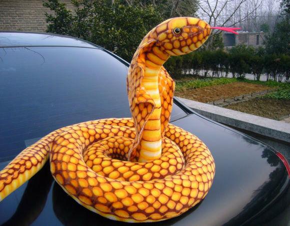 110'' 280cm Emulational Anaconda gold Cobra Snake Stuffed Animal Animal Animal King Plush Gift 0da4ad