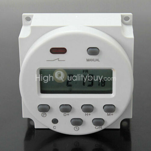 LCD Digital Power Programmable Electronic Timer Time Switches Relay