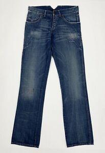 Borsa-jeans-uomo-usato-W31-tg-45-straight-gamba-dritta-denim-blu-boyfriend-T5515