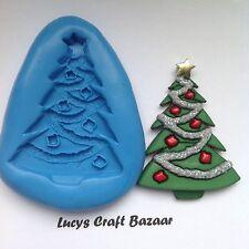 Cake Decorating / Sugarcraft Christmas Tree Silicone Mould Xmas Cupcake Topper