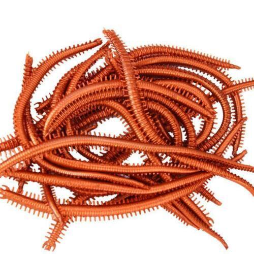 10 Pcs//bag Bionic Bait Artificial Sea Worms Soft Fishing Bait Realistic Fish r