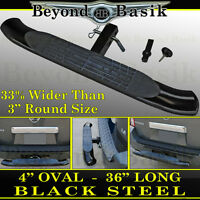Hitch Step Bumper Guard For 2 Receiver 36 Black Painted Steel Truck Suv