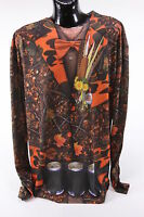 Faux Real Brand Camo Tuxedo Suit Shirt Hillbilly Photo Realistic Mens 2xl