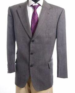 Burberrys Sakko Jacket Bristol Gr.28 grau Fischgrät Einreiher 3-Knopf -S420