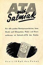 ATA SALMIAK SCHEUERPULVER Historische Reklame von 1943
