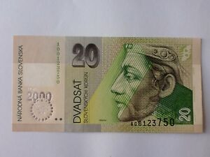 2000-20-Slovakia-20-Korun-2000-Com-UNC-2pcs-Running-Number