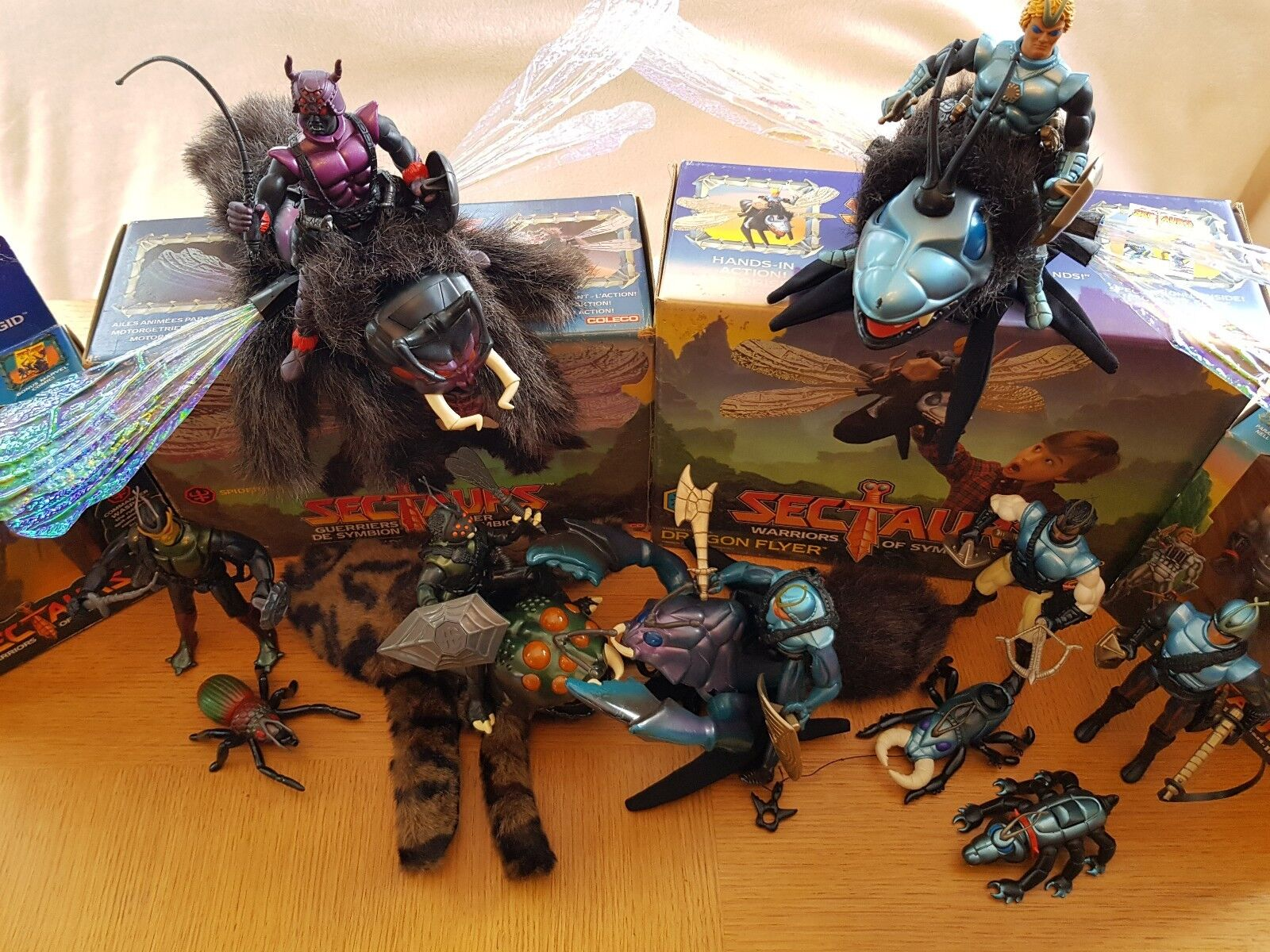 SECTAURS COMPLETE COLLECTION 1984 COLECO - RAINBOW TOYS EVERY FIGURE & BEAST