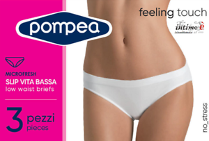 microfresh 3 Unidades POMPEA Cintura Baja Tanga para Mujer Feeling Touch