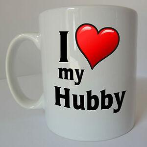 Image Is Loading I Love My Hubby Mug Gift Present Birthday