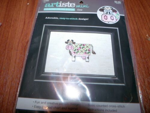 Artiste Mini Patchwork Quilt COW Counted Cross Stitch Kit