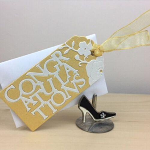 Gift Tag Metal Cutting Dies Stencil DIY Scrapbooking Paper Cards Crafts Die Cuts