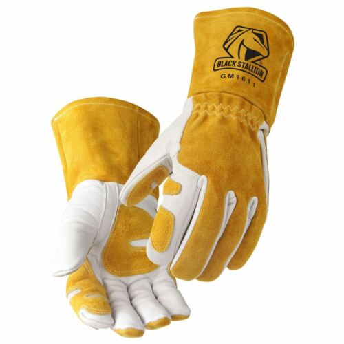 Revco BlackStallion GM1611 Cowhide MIG Glove with Reinforced Palm /& Thumb
