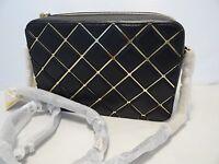 Michael Kors Jet Set Travel Large Ew Cross Body Bag - Diamond Pattern Black