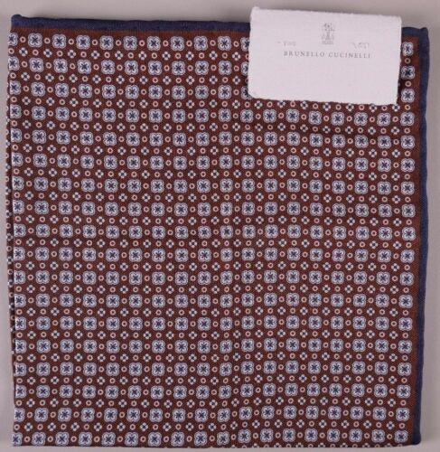 Brunello Cucinelli Einstecktuch Braun Doppelseitig Doppel Design Neu mit Etikett