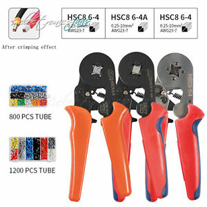 Crimp Tool Crimper Plier Wire Terminal Connection Kit w//1200 Connectors Terminal