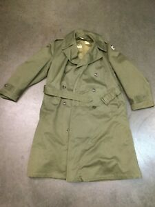 US-ARMY-WW2-VINTAGE-OVERCOAT-FIELD-OD-7-WOOL-LINER-GREEN-TRENCH-COAT-REG-MED