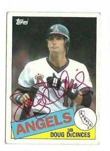 Doug DeCinces 1985 Topps autographed auto signed card Angels