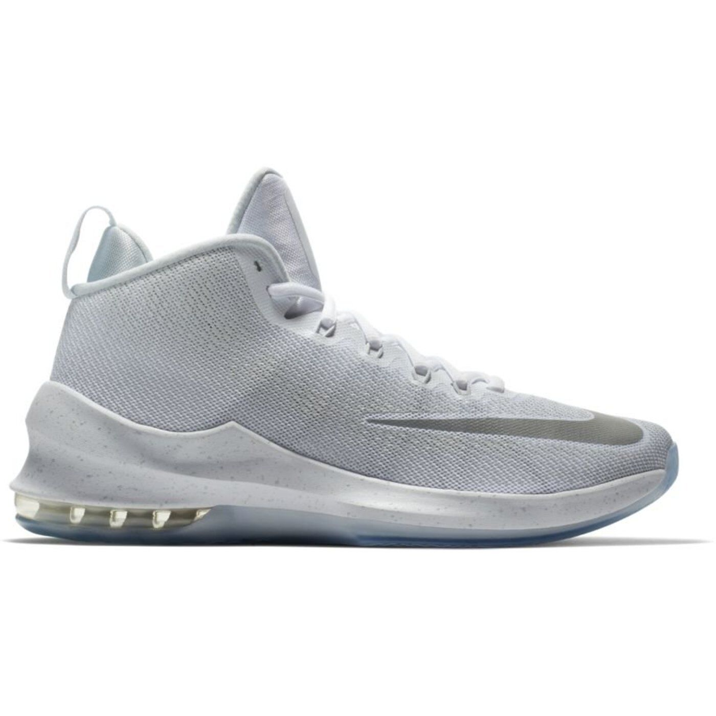 Nike Air Max Infuriate Mid PRM White Silver Men's Basketball shoes Size 11.5