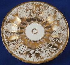 Antique Moabit Berlin Porcelain Gold Design Saucer Porzellan Untertasse German