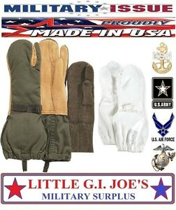 ARCTIC-Olive-Drab-Trigger-Finger-Mittens-Liners-Covers-Military-Issue-Large