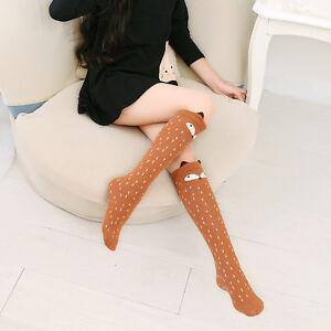 4d054794c New Women Fashion Soft Knee High Socks 3D Cartoon Animal Fox Winter ...