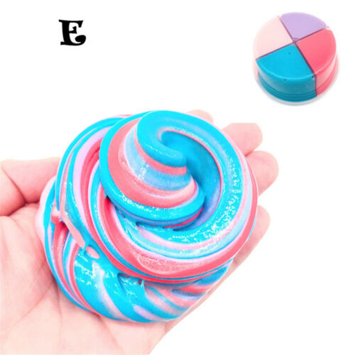 Beautiful Color Mixing Cloud Slime DIY Putty Scented Stress Clay Toy Gifts Box