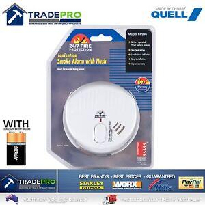 Smoke Alarm Fire Detector Chubb/Quell® Made Australian Standard Bonus 9V Battery