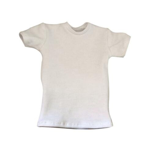 1:6 White Short Sleeve T-Shirt for Hot Toys Enterbay 12/'/' Male Figure Outfit