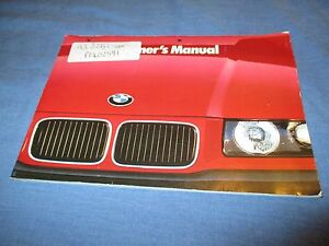 owners manual bmw 325i