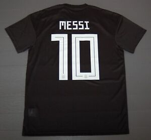 Cd8565 Black Us Size S Adidas Men's Messi Argentina Away Soccer Jersey