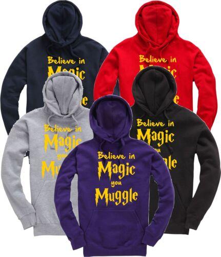Harry Potter credere nella magia si Babbano Glitter Divertente Regalo Felpa con cappuccio Felpa con Cappuccio