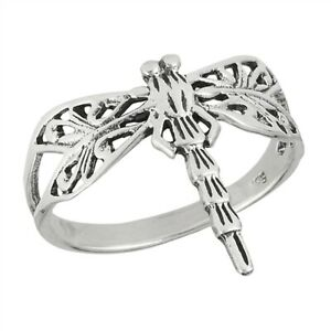 Dragonfly rings sterling silver,Butterfly ring,Dragonfly ring ring,Dragonfly gift,Fantasy ring,Big ring,Steampunk dragonfly,Girlfriend ring
