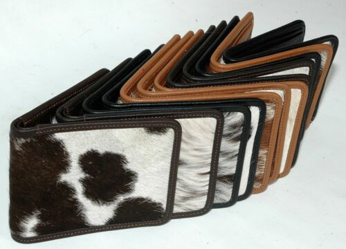 100% Real Cowhide Leather Gents Biifold Wallet (12 Wallets Set) Mb-444