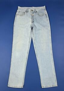 Roks-stone-jeans-uomo-donna-usato-W32-tg-46-denim-used-straight-boyfriend-T6085