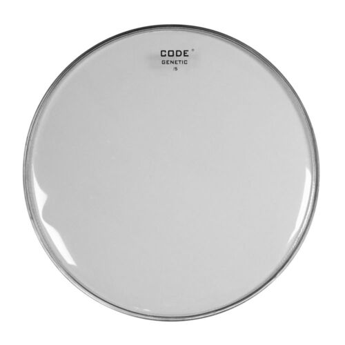 "Code Genetic 12/""//13/""//14/"" Snare Side Reso Snare Drum Head//Skin Clear"
