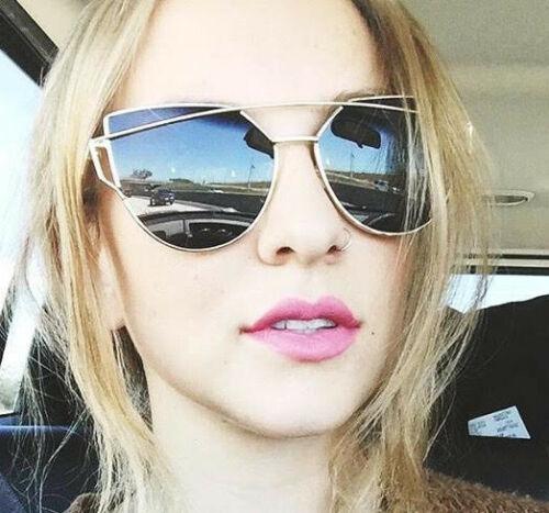 Large Cat Eye LOVE ME Gentle Big Fashion Metal WayF Celebrity Women Sunglasses L