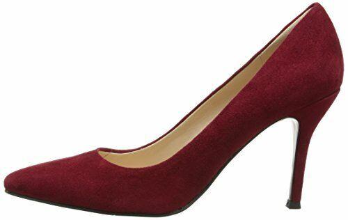 taille 5.0 US rouge en daim Nine West femme lin cuir bout pointu classique Pompes
