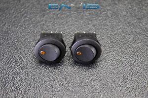 5 PCS ROUND ROCKER SWITCH 3//4 HOLE 16 AMP 12V 3 PIN ORANGE LED TOGGLE IBRRSO